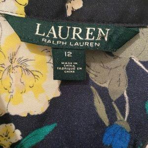 Lauren Ralph Lauren floral printed dress 100% silk